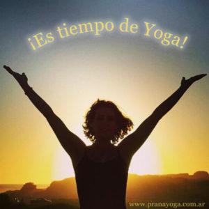 es tiempo de yoga