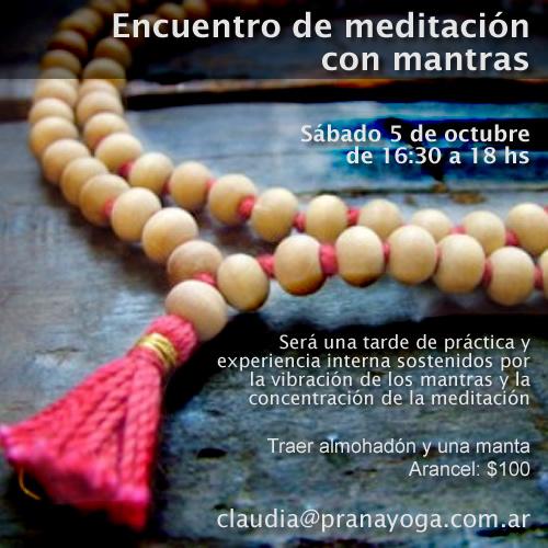 Encuentro de meditación con mantras