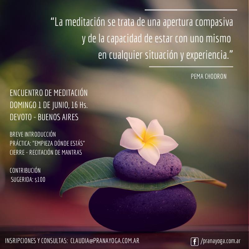 Encuentro De Meditación Prana Yoga Monte Castro